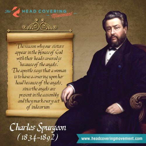 Charles Spurgeon 1 Corinthians 11 head coverings