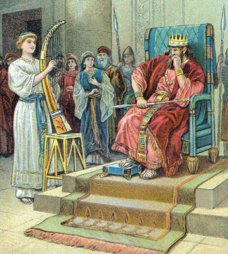 David before King Saul
