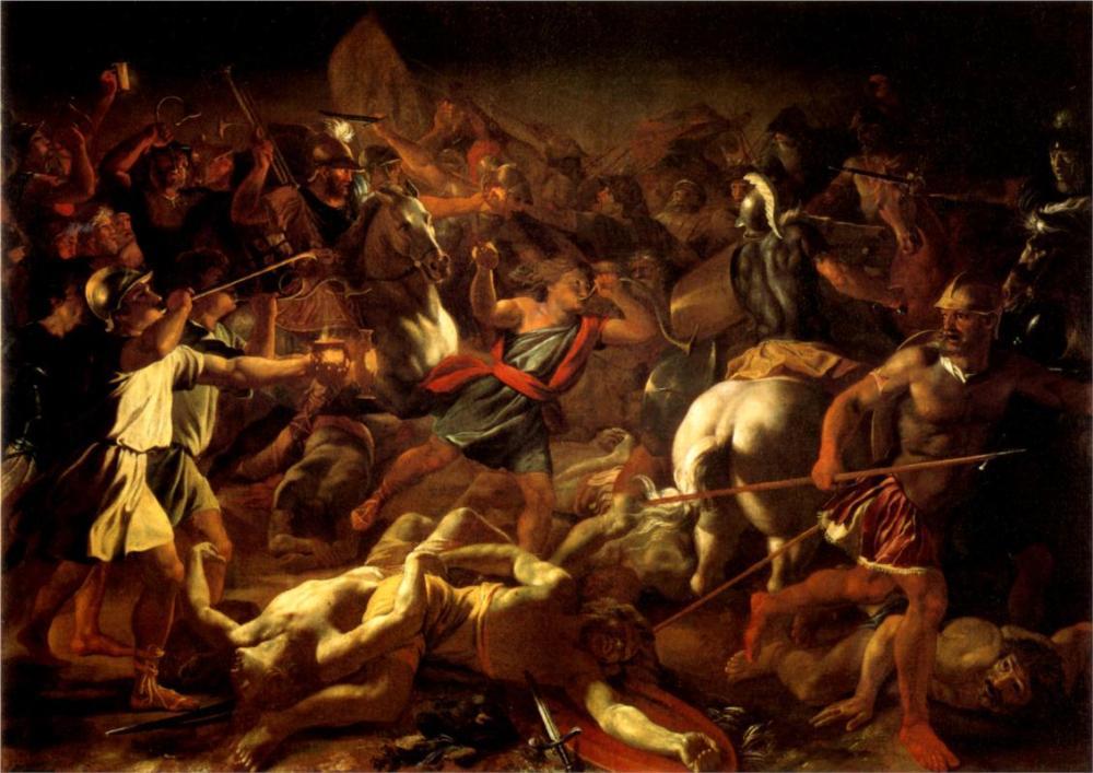 judges-7-bataille-de-gc3a9dc3a9on-contre-les-madianites-by-nicolas-poussin-1625-1626