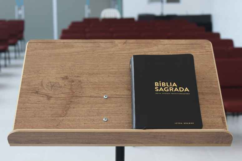 holy bible on lectern